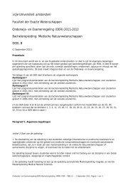 Onderwijs- en Examenregeling (OER) 2010-2011 - Faculteit Exacte ...