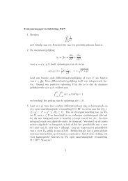 Tentamenopgaven Inleiding PDV 1. Bereken 1 k4 met behulp van ...