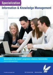 Specialization Information & Knowledge Management - Feweb