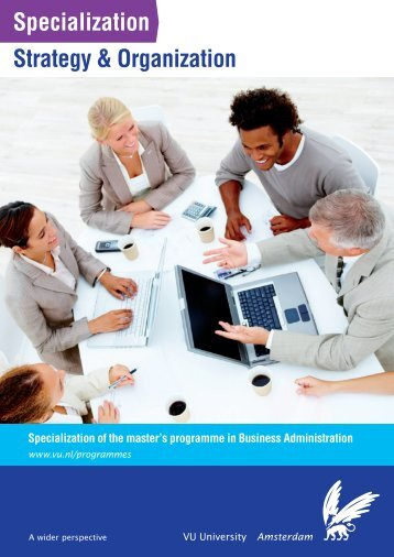Specialization Strategy & Organization - Feweb