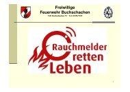 Präsentation Rauchmelder - FF Buchschachen