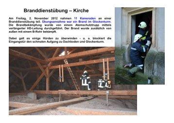 Branddienstübung – Kirche - FF Jedenspeigen