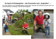 Zu Gast im Kindergarten – die Feuerwehr zum ... - FF Jedenspeigen
