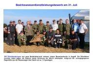 Bezirkswasserdienstleistungsbewerb am 31. Juli - FF Jedenspeigen