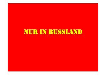 NUR IN RUSSLAND - Motor-Talk