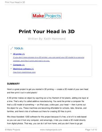 Print Your Head in 3D - Amazon Web Services
