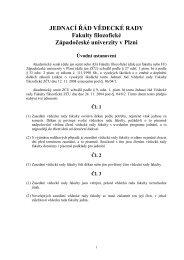 JEDNACÍ ŘÁD VĚDECKÉ RADY Fakulty filozofické Západočeské ...