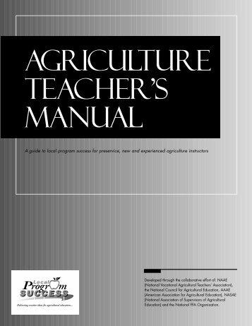 Agriculture Teacher's Manual - National FFA Organization