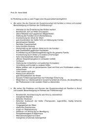 Prof. Dr. Hans Weiß Im Workshop wurde zu zwei Fragen eine ...