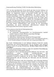 Zusammenfassung Workshop: FASD- Die übersehene Behinderung ...