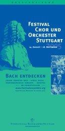 Festival Chor und Orchester Stuttgart - Festivalensemble Stuttgart