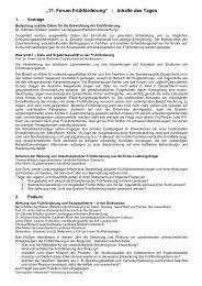 """""""11.ForumFrühförderung"""" - InhaltedesTages - Überregionale ..."""
