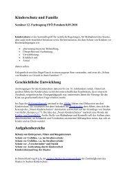 Kinderschutz und Familie Geschichtliche Entwicklung ...