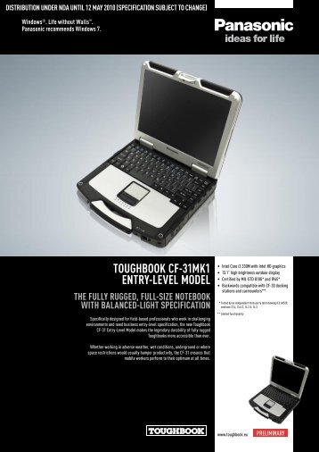 Toughbook CF-31mk1 EnTry-LEvEL modEL ThE ... - FFcompany