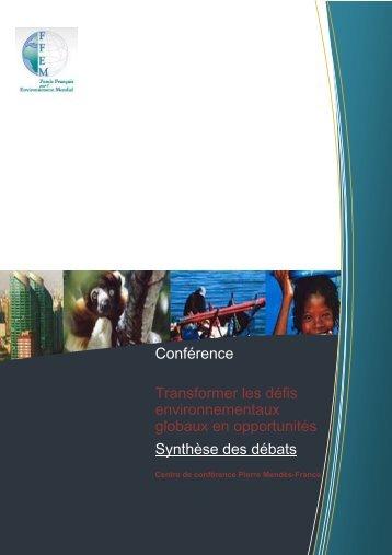 Lire la synthèse des débats (PDF) - FFEM