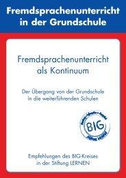 Fremdsprachenunterricht als Kontinuum - Stiftung LERNEN
