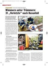 Technische Großschadensübung - Autobusunglück - FF Gänserndorf