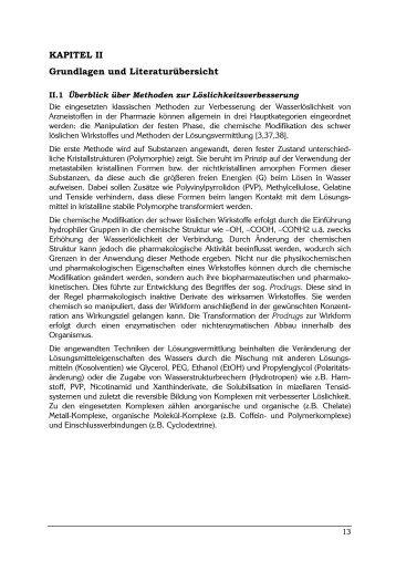 Solubilisierung stark lipophiler Arzneistoffe in lipidhaltige ...