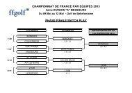CHAMPIONNAT DE FRANCE PAR EQUIPES ... - Le Stade Français
