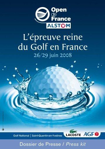 Dossier de presse 2008 - Fédération Française de Golf