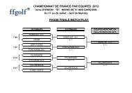 Championnat de France par Equipes 2012