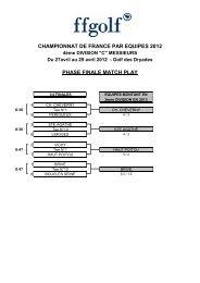 CHAMPIONNAT DE FRANCE PAR EQUIPES 2012 PHASE FINALE ...