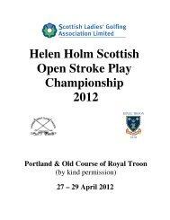 Helen Holm Scottish Open Stroke Play Championship 2012