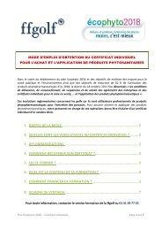 Mode d'emploi des certificats individuels