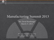 Manufacturing in Northeast Mississippi - Franklin Furniture Institute ...