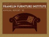 2010 Annual Report - Franklin Furniture Institute - Mississippi State ...