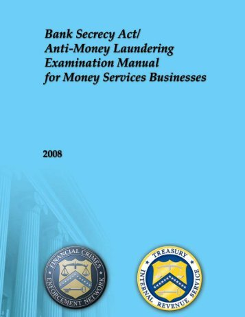 Examination Manual for Money Services Businesses - FinCEN