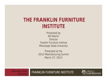 THE FRANKLIN FURNITURE INSTITUTE