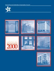 FFIEC Annual Report 2000