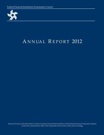 Annual Report 2012 - ffiec