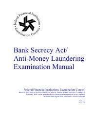 Bank Secrecy Act (BSA)/Anti-Money Laundering (AML ... - ffiec