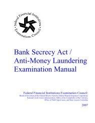 BSA/AML Examination Manual - ffiec