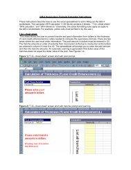 SFA Calculator Instructions - ffiec