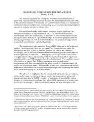 Interagency Advisory on Interest Rate Risk Management - ffiec