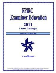 FFIEC Examiner Programs