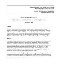FFIEC Guidance on Authentication in an Internet Banking Environment