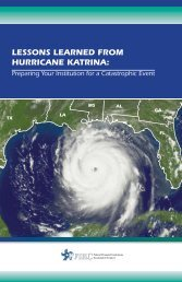 LESSONS LEARNED FROM HURRICANE KATRINA: - OCC