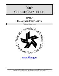 2009 Course Catalogue - ffiec