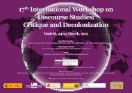 17th International Workshop on Discourse Studies - Facultad de ...