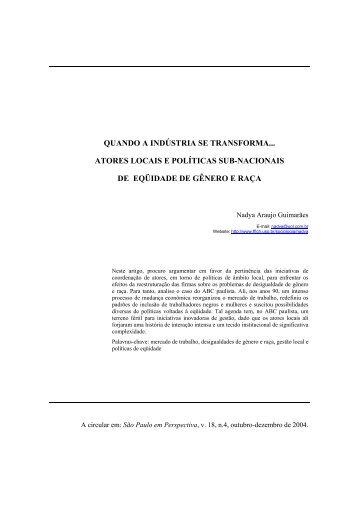 Transições ocupacionais, recorrência do desemprego e ... - fflch - USP