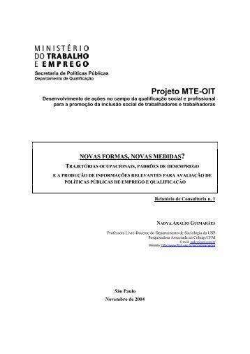 Projeto MTE-OIT - fflch - USP
