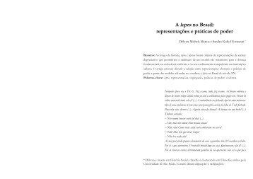 A lepra no Brasil: representações e práticas de poder - fflch - USP