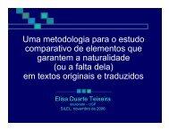 Uma metodologia para o estudo comparativo de ... - fflch - USP