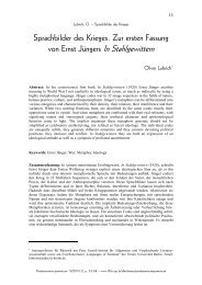 Sprachbilder des Krieges. Zur ersten Fassung von Ernst ... - fflch - USP