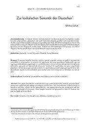 Zur lexikalischen Semantik des Deutschen1 - fflch - USP