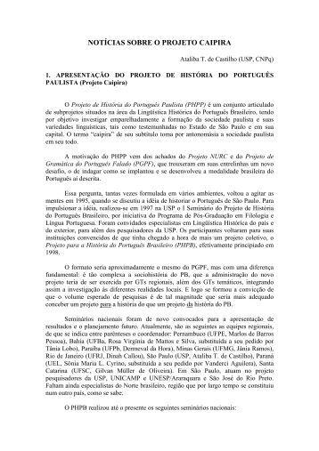 Projeto Caipira - fflch - USP